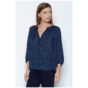 Joie • blue addie B silk top blouse